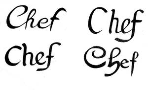 Chef Calligraphy