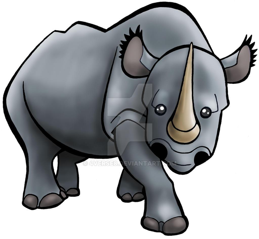 Creature Series - Black Rhinoceros by 4verse8