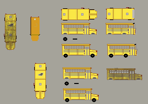 Rustharte Spritework - 10 School Bus by tails-sama