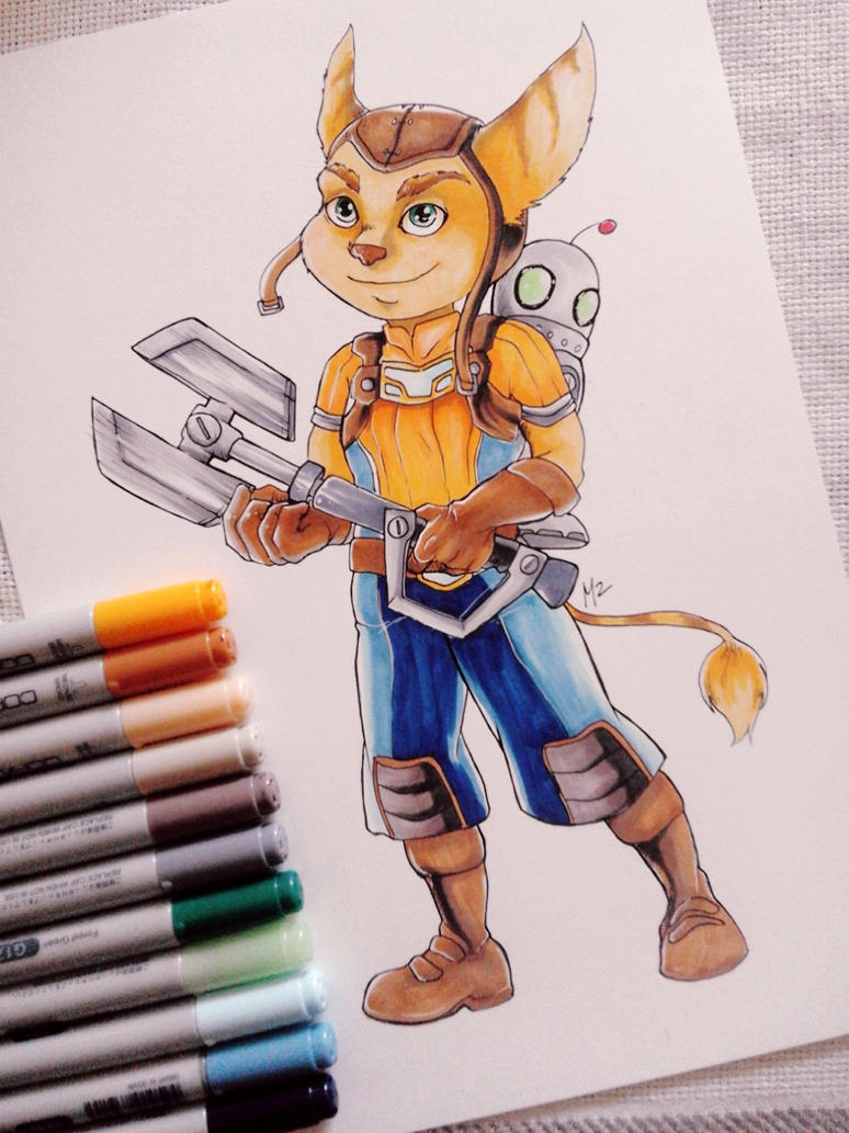 Ratchet and Clank_traditional by M2Art93