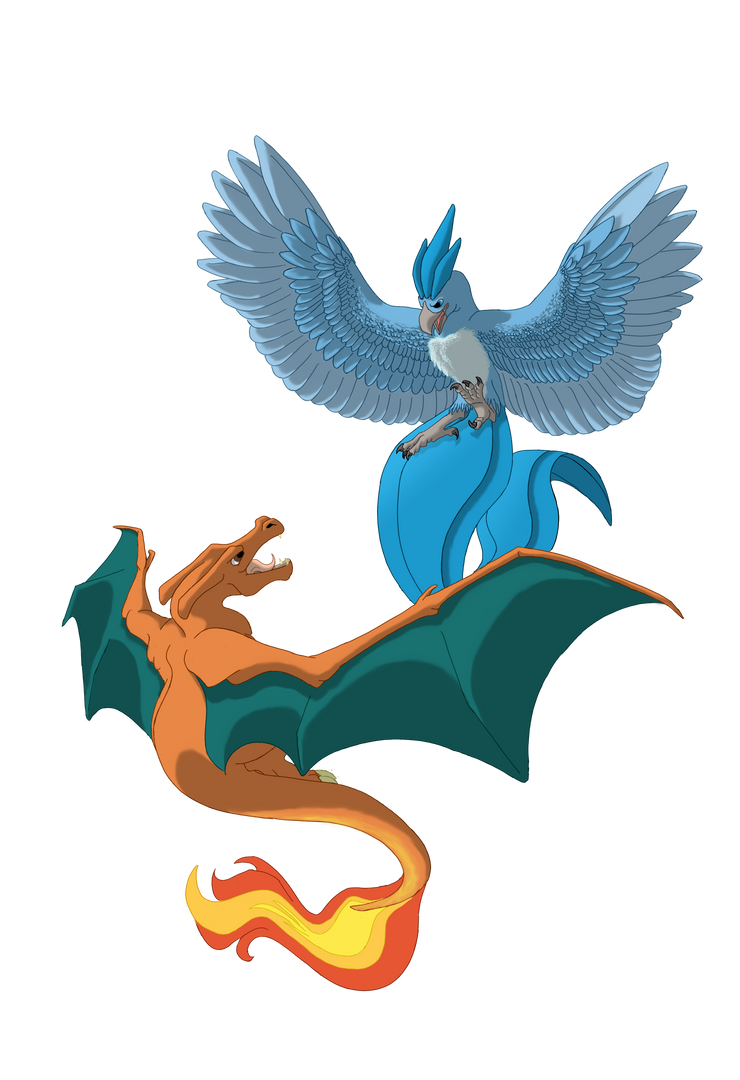 Charizard V Articuno By Shadow and Flame 86 On DeviantArt