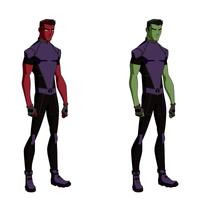 Changeling/Beast Boy Titans Design by BobbenKatzen
