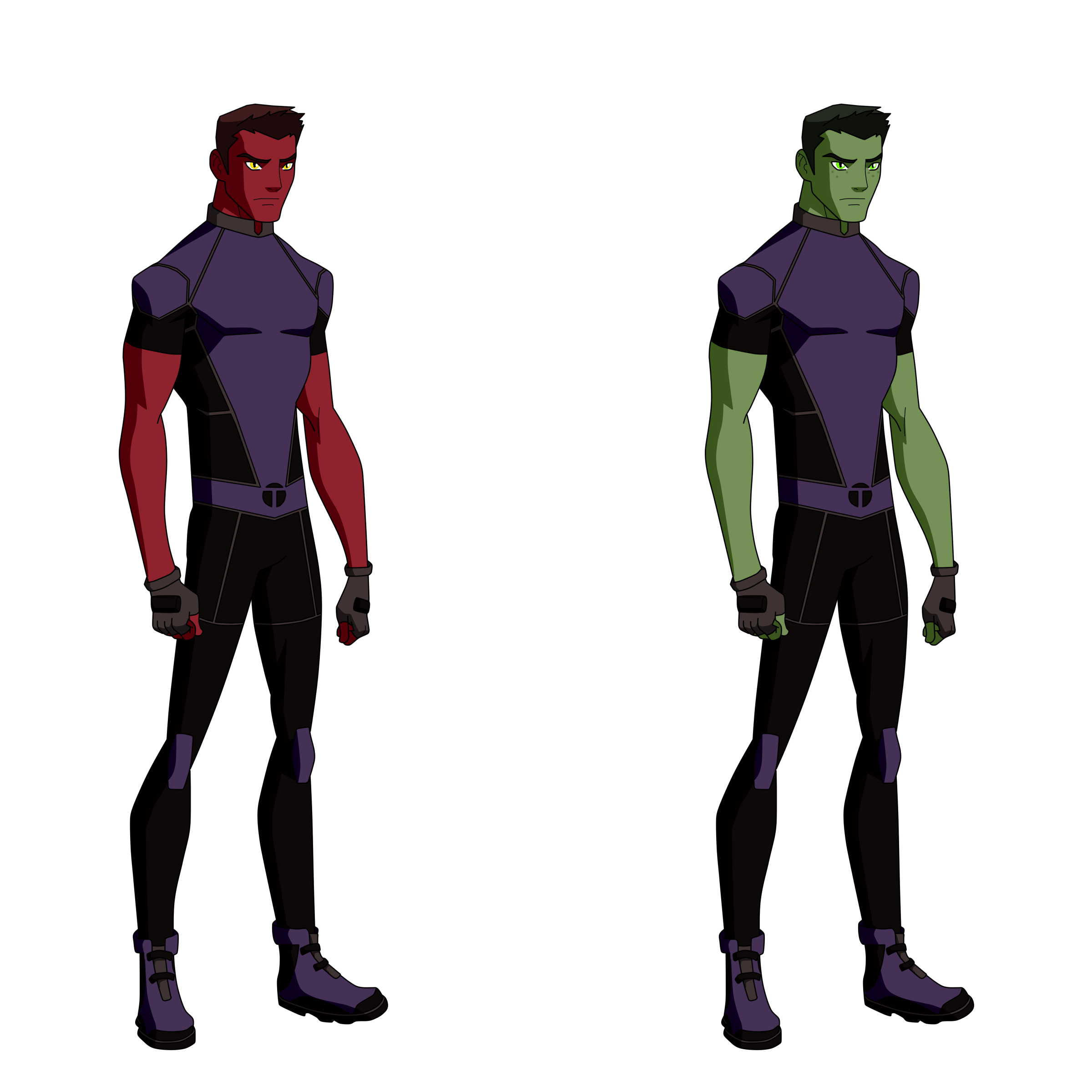Changeling/Beast Boy Titans Design by Bobkitty23