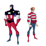 Request: Star-Spangled Man and Stripesy