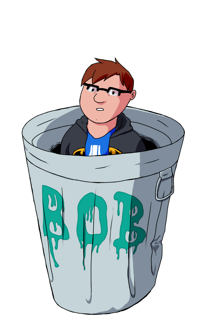 Garbage Doodle #4: The Trash Man by Bobkitty23
