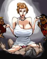 Wilma Flintstone parody