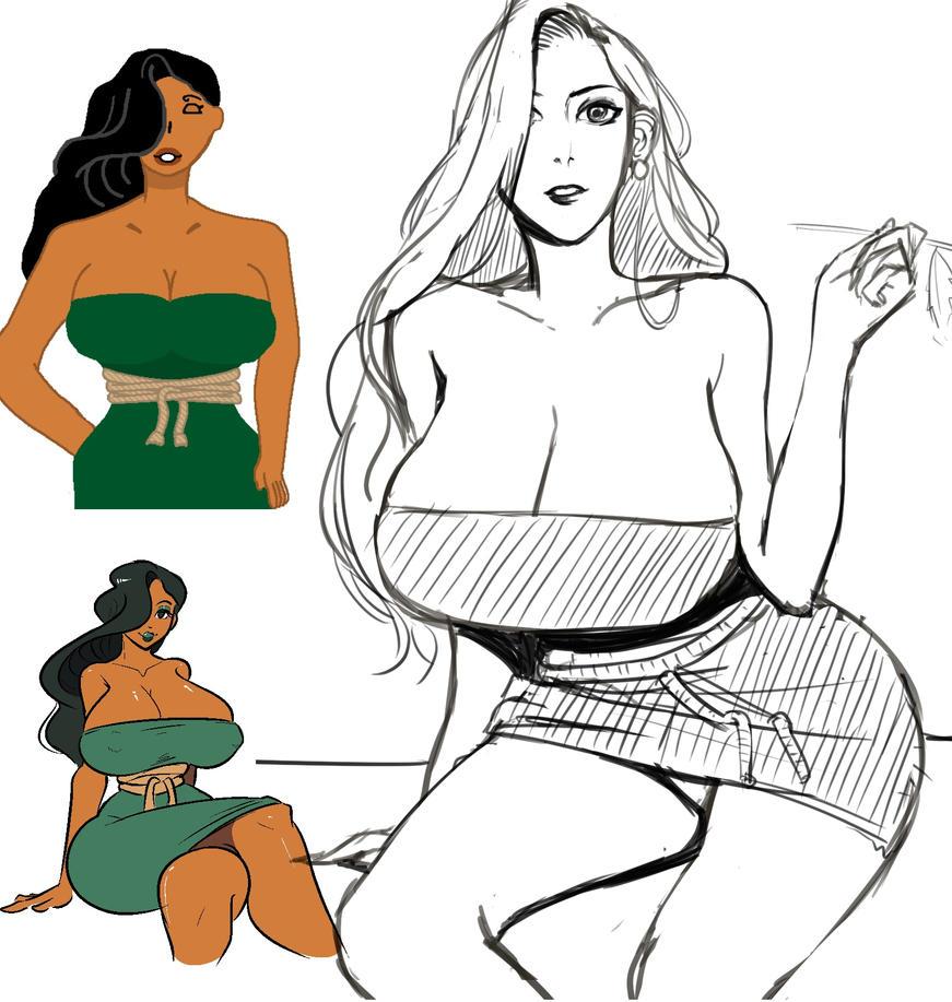 OC Sei'Caus sketch by ScarlettAnn1028