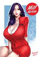 Milf Stewardness manga cover
