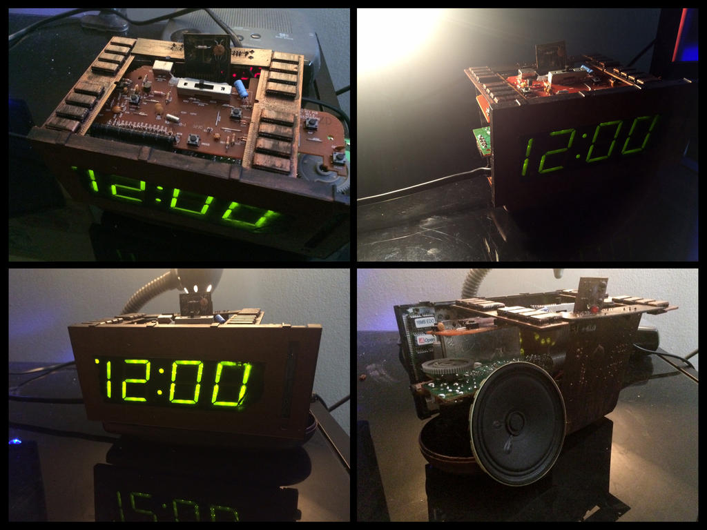Steampunk Digital Alarm Clock By Pyrochimp On Deviantart