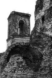 Ruined church by Erfea