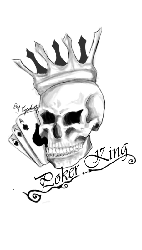 Poker King Tattoo Sketch By Tzachi07 On Deviantart