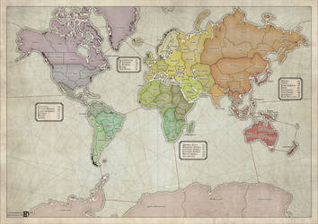 Boardgame World Map by DanielHasenbos