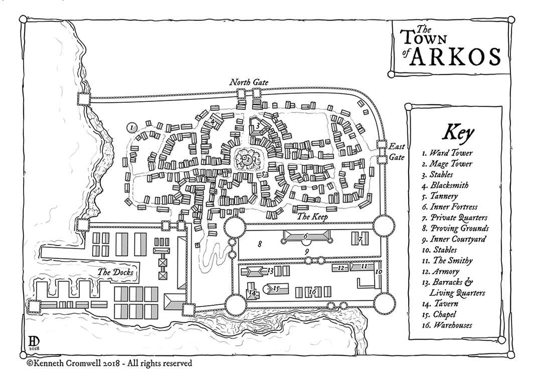 The Town of Arkos by DanielHasenbos