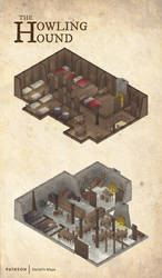 The Howling Hound (Isometric) by DanielHasenbos