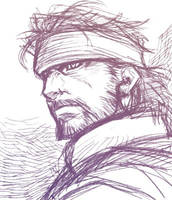 Metal Gear Solid 3 Snake Eater-Big Boss Sketch by Johnboy1987