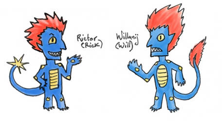 Rictor and Willanij as Trolls