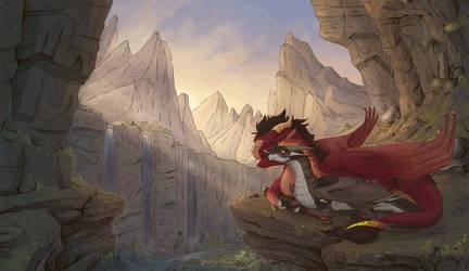 Dragon Mountains by etrii