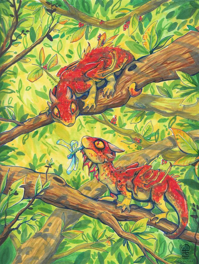 Little tree dragons by etrii