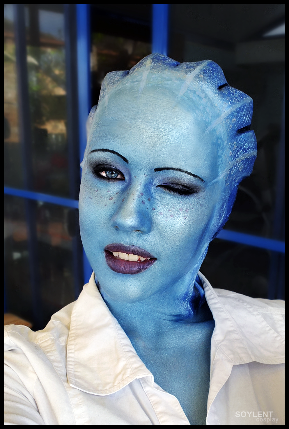 Liara cosplay - Wink by Soylent-cosplay