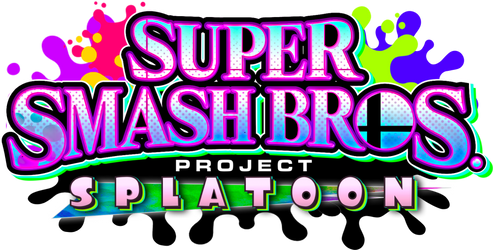 Super Smash Bros. Project: Splatoon Logo V3 by LKGaming