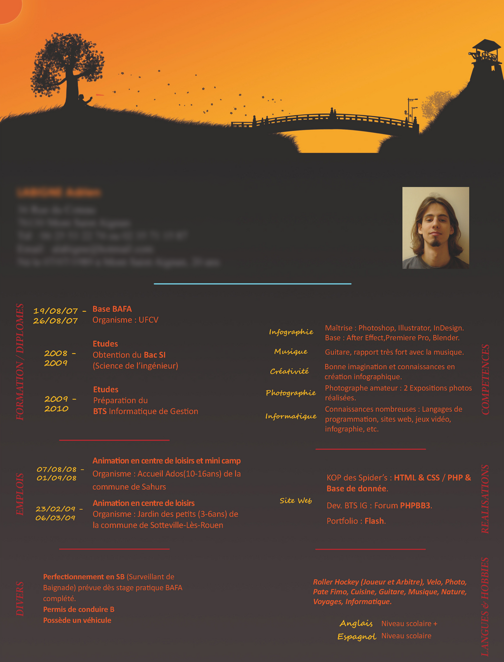 graphic curriculum vitae by minus89 on deviantart