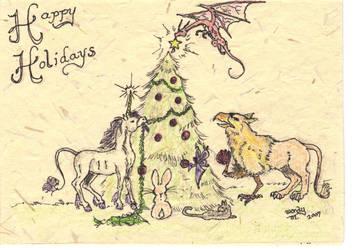 Christmas card 2007 by Almalphia