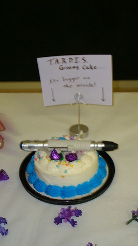 TARDIS grooms cake by Almalphia