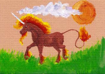 Firebringer ACEO by Almalphia