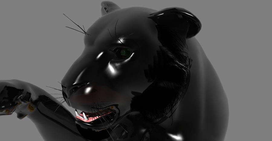 Black Panther By Portela On Deviantart: Black Panther Head By LionkingCMSL On DeviantART