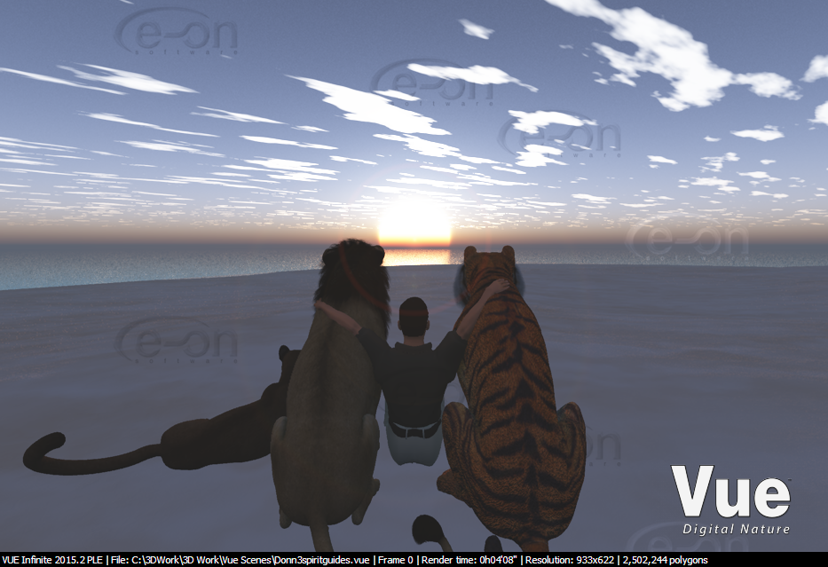 Watching the sun rise by LionkingCMSL