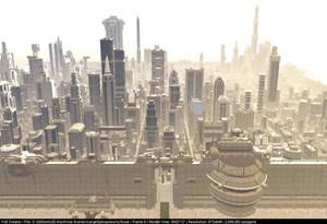 Large Dystopian city