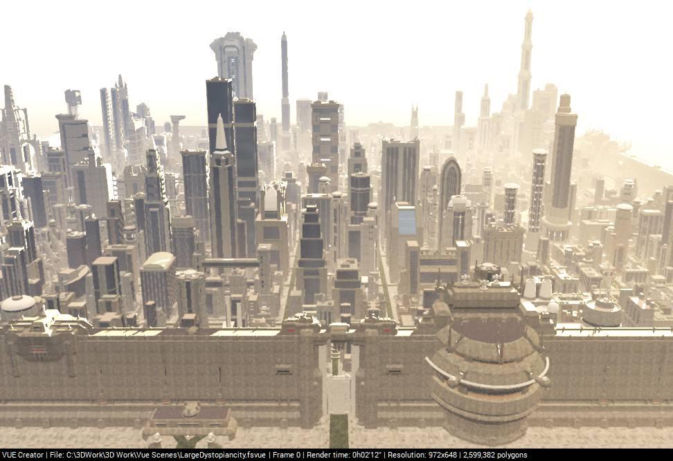 Large Dystopian city by LionkingCMSL