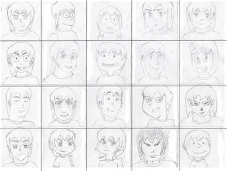 Many LFist (20 Different versions) sketch