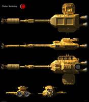 Space: 1999 - Deltan Battleship by Tenement01