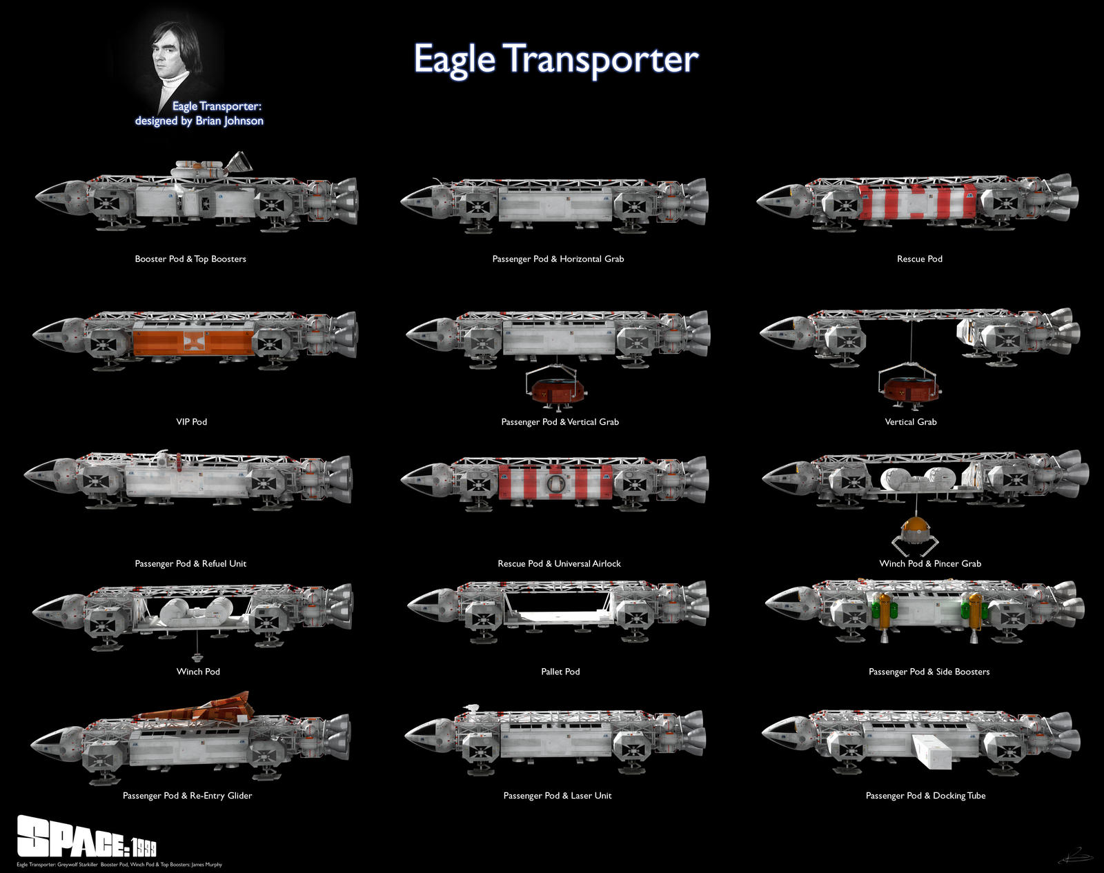 Space 1999 - Eagle Types 2020
