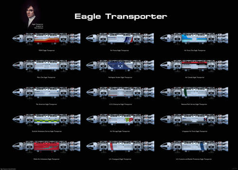 Space: 1999 - Eagle Transporter variations
