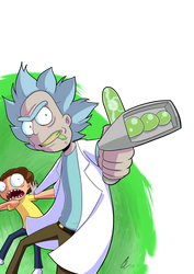 Come on Moo*URRRP*oorty | Rick And Morty Fan-Art