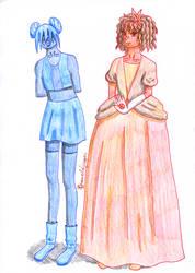 Sapphire and Ruby role swap by Drzewobojczyni