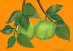 Apples on a branch by Drzewobojczyni