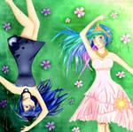 Sun and Moon: Princess Celestia and Princess Luna