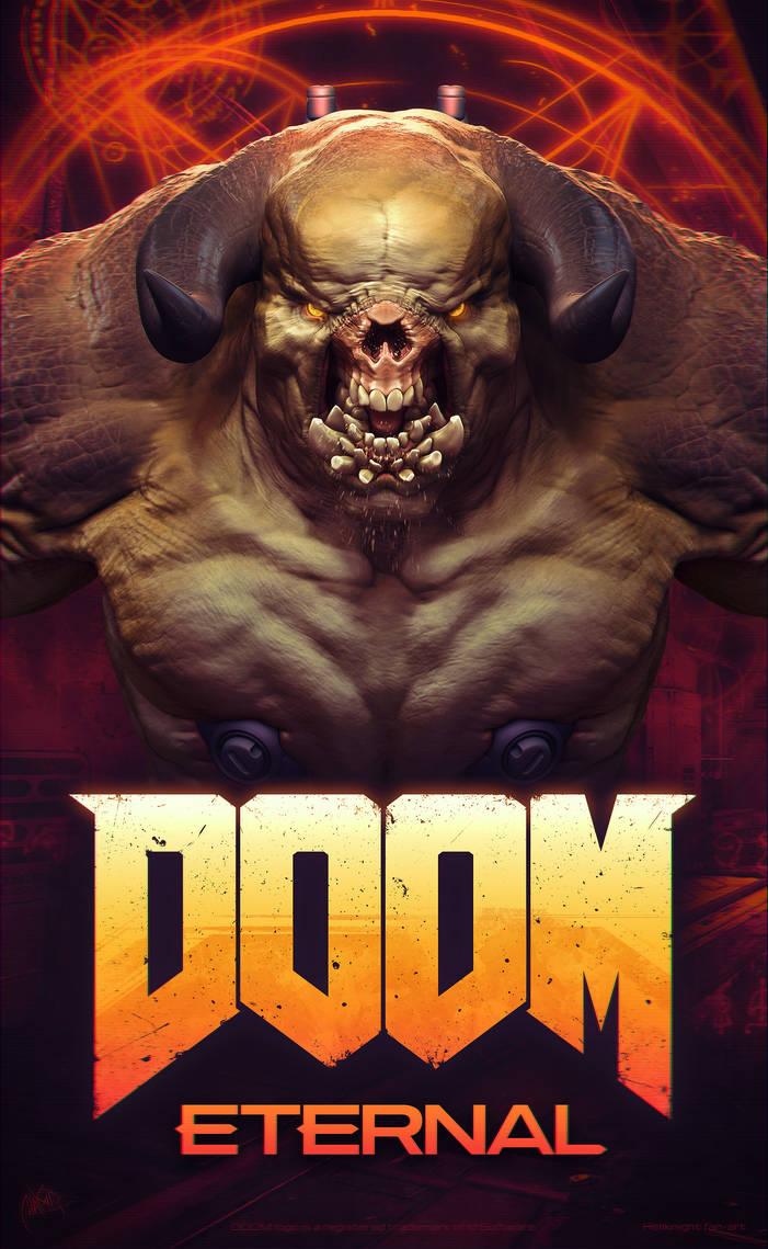DOOM Eternal fan poster (remake of DOOM 3 poster) by