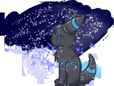 (PF) Shiny Umbreon by CharcoalOwl