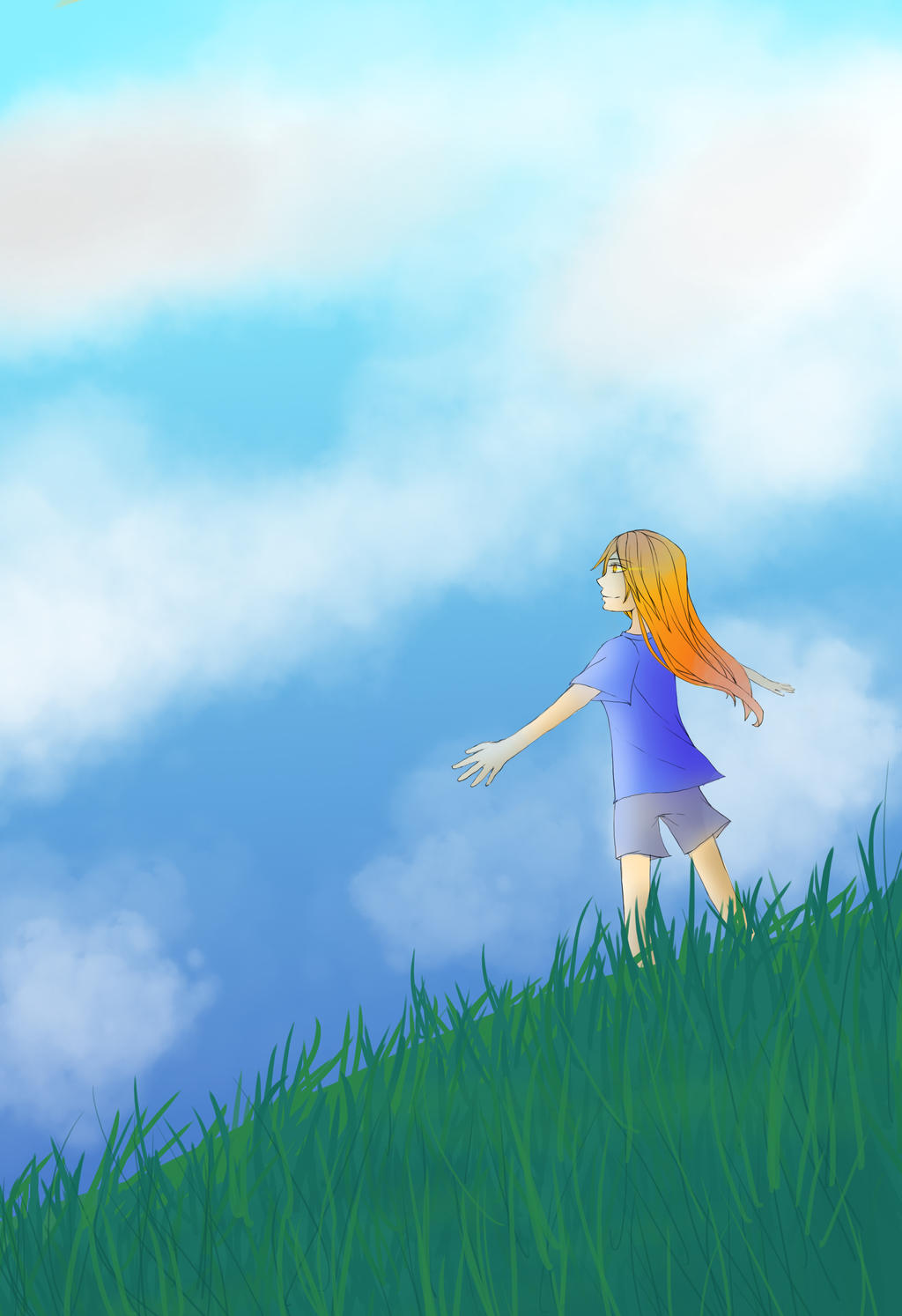 Embrace the sky by RavenMomoka