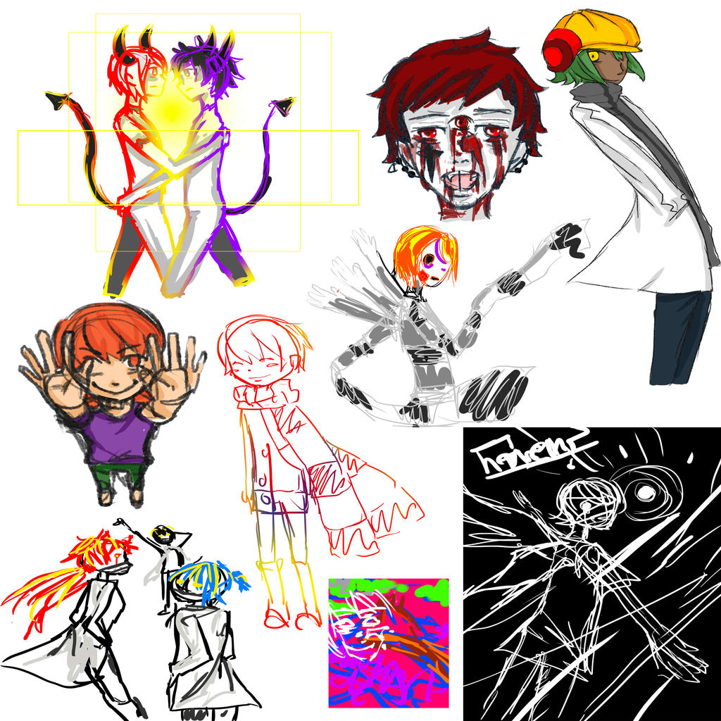 sketch dump 1 by RavenMomoka
