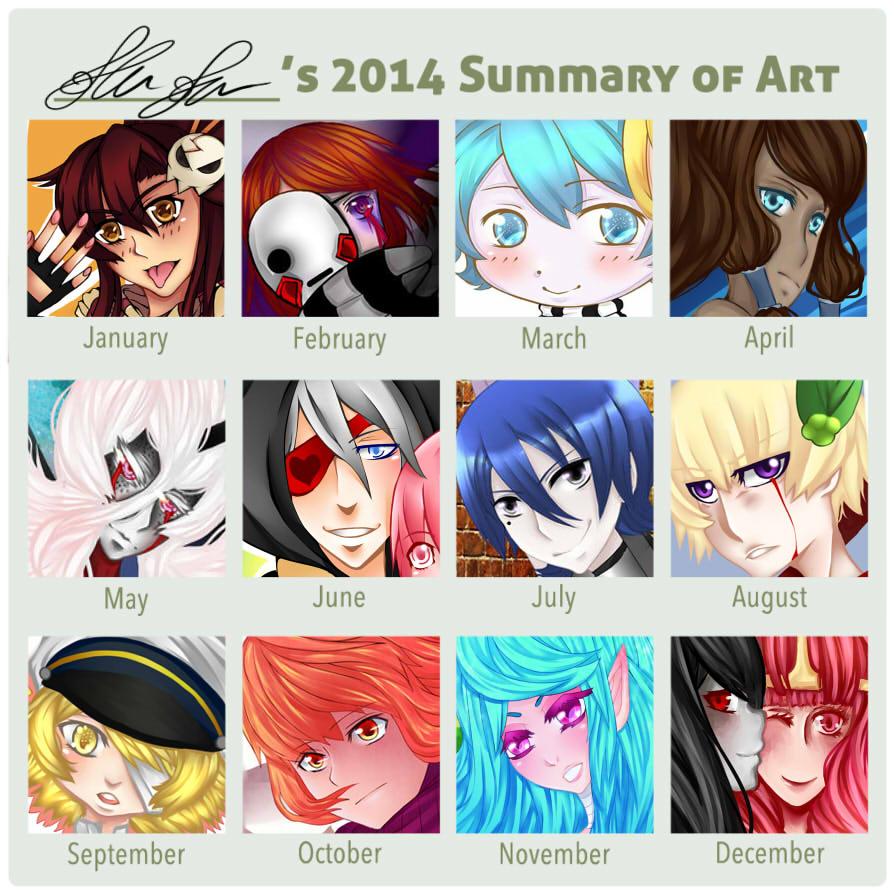 2014 Summary Of Art By Dustbunnythumper-d89q by RavenMomoka