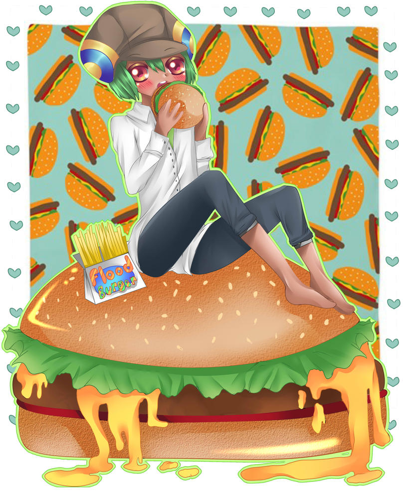 Burger by RavenMomoka