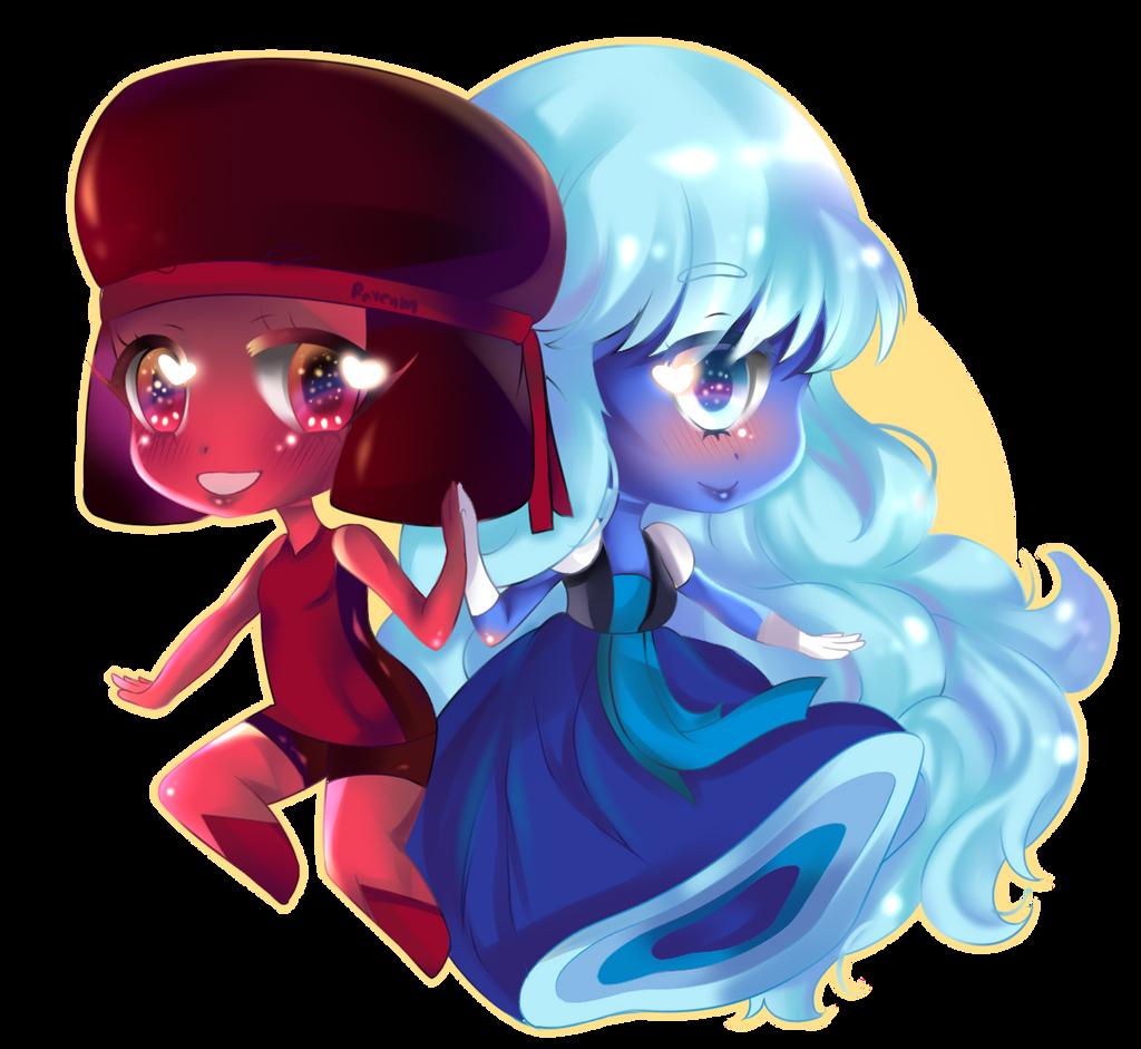 Sapphire and Rudy by RavenMomoka