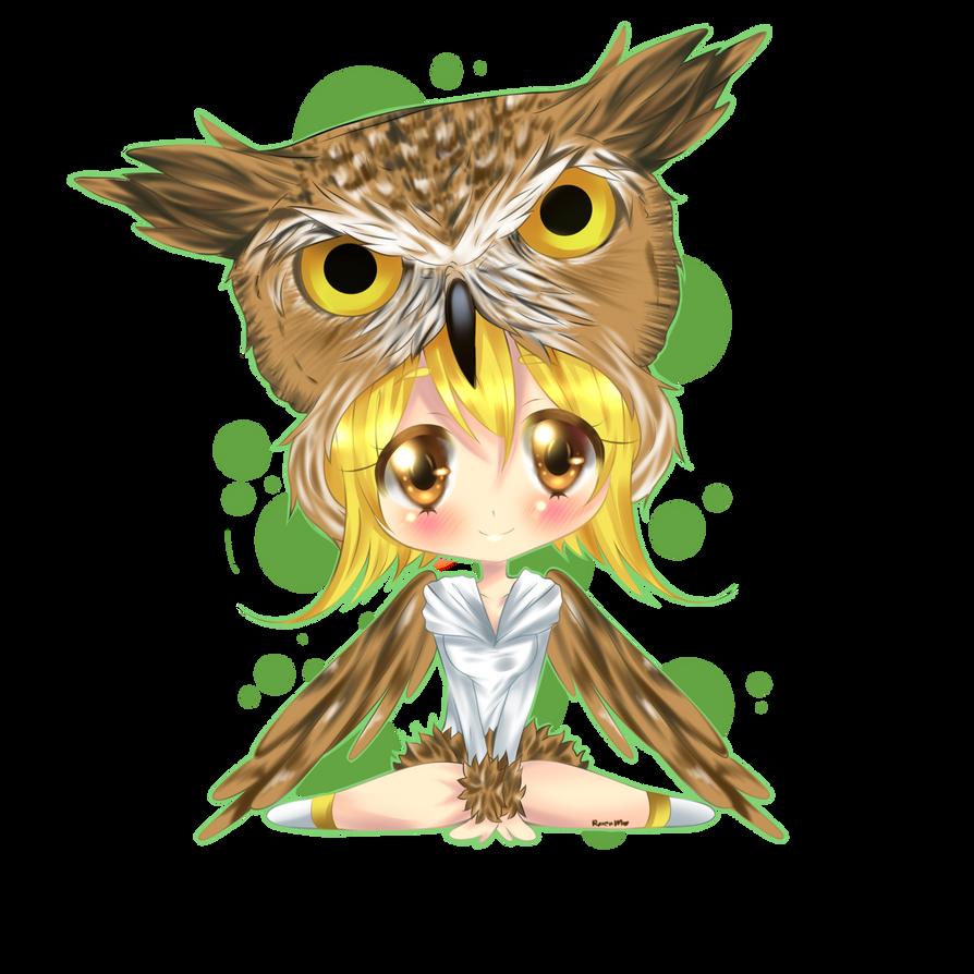 owl chibi by RavenMomoka