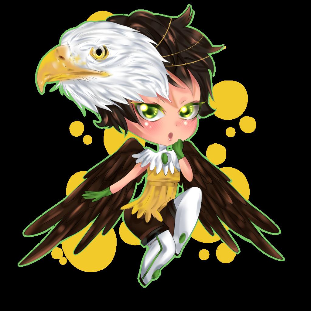 eagle chibi by RavenMomoka