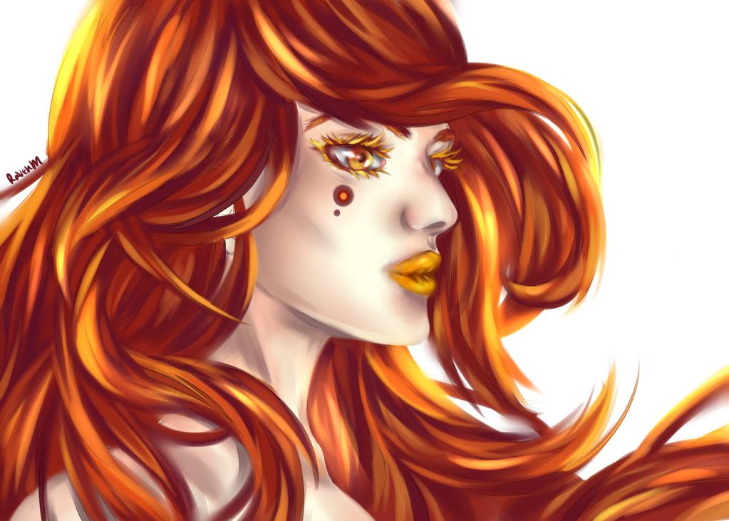 Fire spirit by RavenMomoka